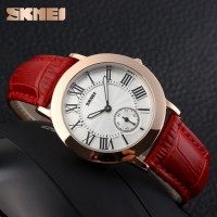 SKMEI Fashion Casual Ladies Leather Strap Watch30m- 1084CL Coffee 1084