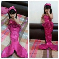 harga Kostum Putri Duyung (4-6th), Baju Anak Setelan Dress Tokopedia.com
