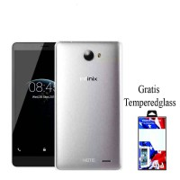 infinix note 2 x600 ultrathin free tempered glass. hitam clear