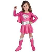 Kostum SUPERGIRL pink import party dress S/M/L (2-9 thn)