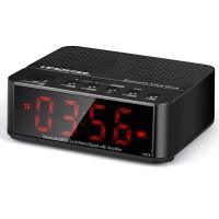 Jam Meja Alarm Speaker Bluetooth KD-66 - Hitam Keren Unik