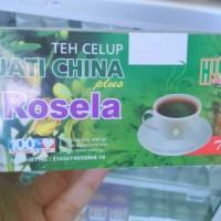 teh daun jati cina plus bunga Rosella Merah Celup,teh jati cina,teh