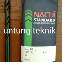 Mata Bor Besi Nachi HSS 10.5mm