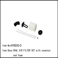 RC Car OVAL AIR FILTER SET WITH CONNECTOR AND FOAM ENGINE/GP
