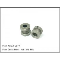 RC Car / MOBIL 1/8 WHEEL HUB AND NUT/MUR Hex 17mm