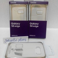 Clear Cover Samsung Galaxy S6 Edge Original (Soft/Hard Case,Casing)