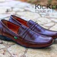 harga Sepatu Murah Kickers Pantofel List Kulit Coklat Tokopedia.com