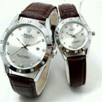 harga Rolex Couple Kulit Tanggal Coklat - Jam Tangan Pasangan Swiss Army Tokopedia.com