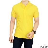 Kaos Polos Kerah Kuning Kenari 100% Cotton Pique  POL 59