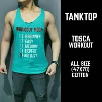 Kaos/ Tanktop/ Singlet Tosca Workout Gym