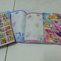 Buku Tulis Gambar Princess Sticker