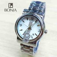 Jam Tangan Wanit a Bonia Logo Rantai Silver
