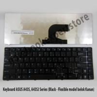 Keyboard ASUS A43S, A43SJ Series (Black - Flexible model belok Kanan)
