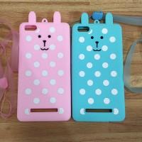 harga Xiaomi Mi4i / Mi4c Polkadot Bear Cute Silicon Case With Strap Thinloo Tokopedia.com