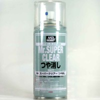Mr color B514 - Mr Super Clear Flat - cat Gundam model kit spray can