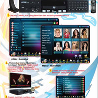 DVD PLAYER KARAOKE JUMONG JM 100 + Layar Touch Screen 19 Inch