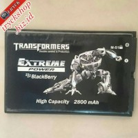 Baterai Hp Bb Blackberry M-S1 MS1 Bold,Onyx 1, 2 Transformer 2800mAh