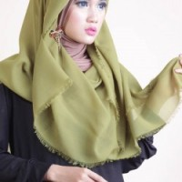 Jilbab Segi Empat Rawis - Hijau Pupus