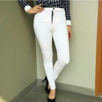 Highwaist jeans white bigsize / hw putih size 31-34