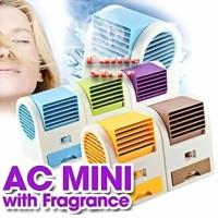 AC DUDUK MINI FRAGRANCE FAN Kipas Tanpa Baling Aroma Terapi