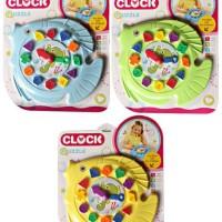 Mainan Bayi Anak Clock Puzzle Fish