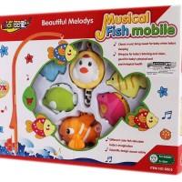 Mainan Bayi Anak Fish Musical Mobile