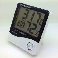 HTC-1 - Thermometer, Hygrometer & Clock - Temperature, Humidity Meter
