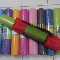 Yoga Mat matras 6mm 173x61cm aneka warna olahraga alas ada tas