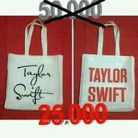 taylor swift red 1989 fearless speak now tote bag murah harga grosir