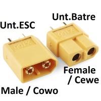 Konektor XT60 Kuning (Sepasang)