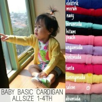 Jual [SALE] BABY BASIC CARDIGAN ANAK ALLSIZE 1-4TH Murah