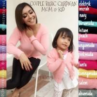 Jual [SALE] COUPLE BASIC CARDIGAN MOM KID (MOM XL) Murah
