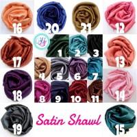 Grosir jilbab / kerudung / hijab / pashmina satin silk / velvet