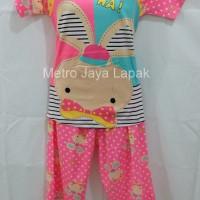 Setelan Baju Tidur/piyama Perempuan Kelinci