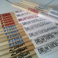 Stick Drum Merk Zildjian, Tama, Sonor (12pasang)