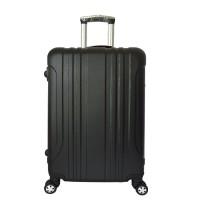 harga Koper fiber Polo Maple ABS Vertical Stripe Six - B11 Hitam 24