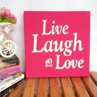 Wall decor / poster kanvas - Live Laugh Love