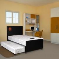 Airland (Satu Set) (Kasur 2in1) Spring Bed 202 Spring Latex (100x200)