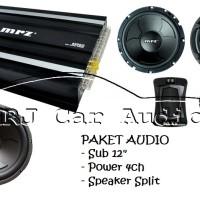 Paket Sound sistem mobil Murah Paket Audio murah Power Sub Speaker