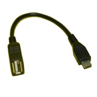 USB Host OTG Adapter Cable For Samsung Galaxy S / Note / Nexus