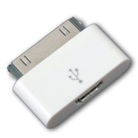 Female Micro USB To 30 Pin Apple Charger Adapter For IPhone 4 & IPad