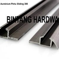 Rel Aluminium Pintu Sliding 380 Untuk Lemari Pintu Geser Cabinet Dapur