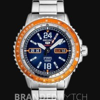 Seiko 5 SRP351K1 Sports Silver Orange Blue