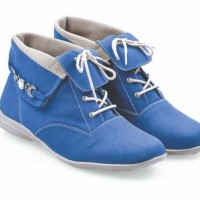 harga Sepatu Boots Wanita / Sepatu Biru Boots Perempuan / Boot Cewek Murah Tokopedia.com