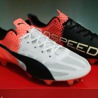 Puma Evospeed SL White Black - FG [Sepatu Soccer] [Replika Import]