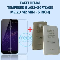 [Paket] Tempered Glass + Softcase Meizu M2 ( Mini ) Ultrathin Case