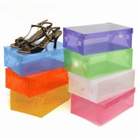 Kotak Plastik Sepatu Transparan Warna