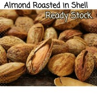 Jual 1Kg Almond Roasted ( Panggang ) USA - California murah bakar in shell Murah