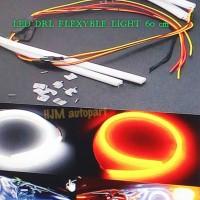 LAMPU DRL LED FLEXYBLE 60 CM / LAMPU ALIS (2 MODE ON) WHITE - YELLOW