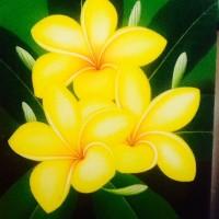 Jual Lukisan Bunga Kamboja Kembang Jepun Plumeria 80 X 60 Kanvas Kayu D Kab Tabanan Budha Travel Store Tokopedia